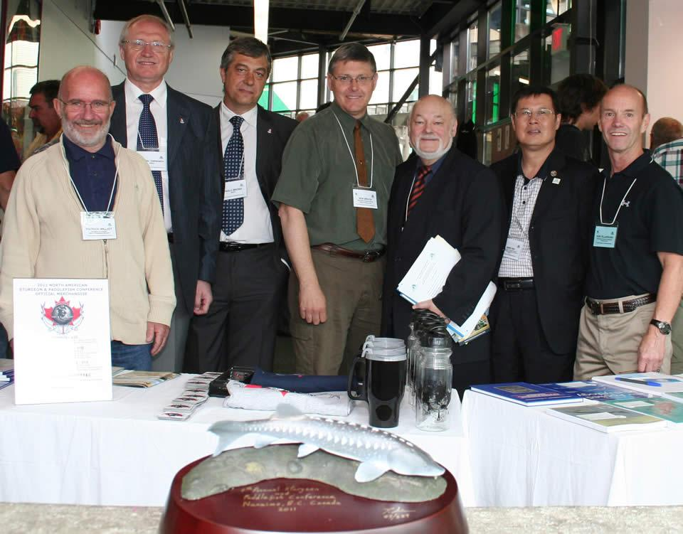 participants at VIU 4th annual sturgeon paddlefish conference